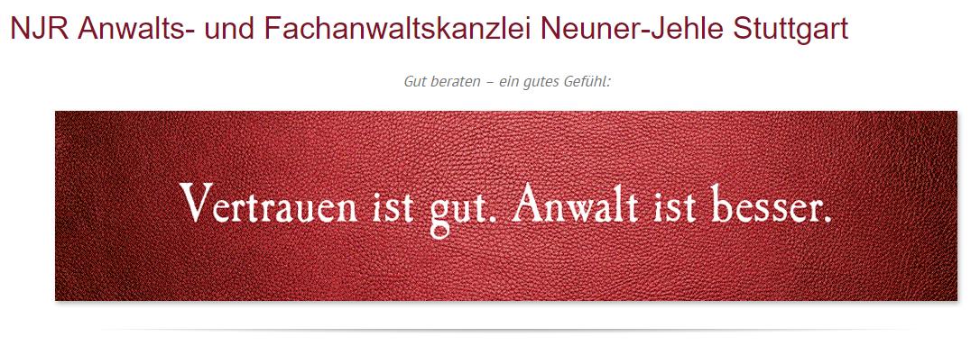Rechtsanwalt für Sommerrain (Stuttgart) - NJR Rechtsanwaltskanzlei: Verkehrsrecht, Bußgelder, Arbeitsrecht, Familienrecht, Scheidungen, Strafrecht, Bußgeldanwalt